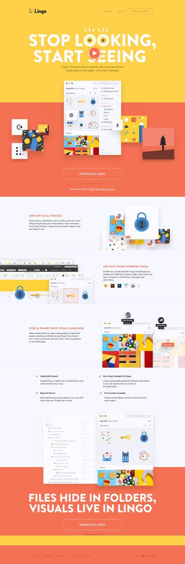 Stop Looking, Start Seeing | Landing Page Design Inspiration