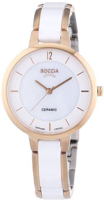 Boccia Damen-Armbanduhr XS Analog Quarz Keramik 3236-03