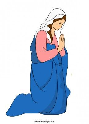 Mary visuals / Maria, flanelplaat voor kleuters