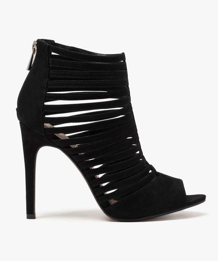 Sandales multibrides à talon haut Noir