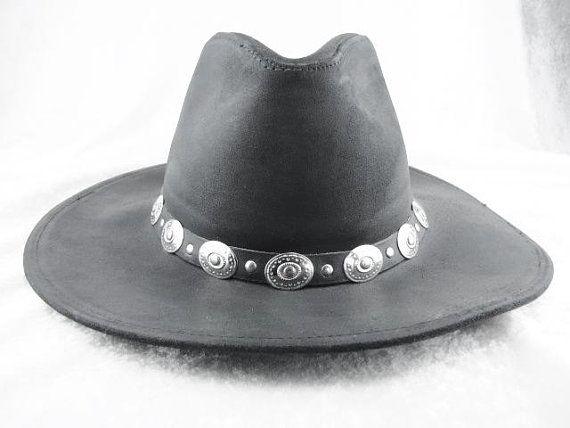 dac8bae466d Cowboy Hat Mens Felt Western Black Cowboy Hat With Brim Rancher ...