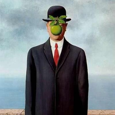 "Renee Magritte ""The son of man"" René Magritte ( 1898 - 1967 ) Surrealist Artist : More At FOSTERGINGER @ Pinterest"