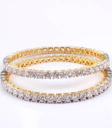 Buy Gorgeous Single Line bangles with beautiful stones bangles-and-bracelet online