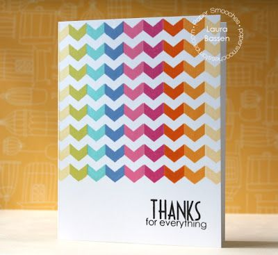 Card by PS DT Laura Bassen using the PS Borderlicious and Many Thanks stamp sets