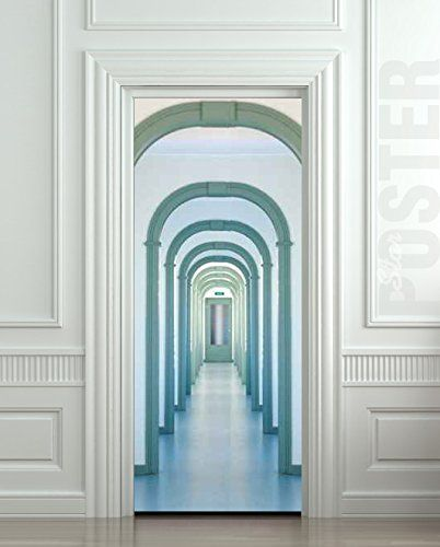 Wall Door STICKER Blue arches poster mural decole film...  & 697 best Amazing illusion for your interior - wall or door! images ...