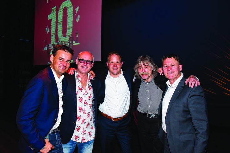 #Genee, #Gijp, #Berden, #Derksen en #Jansen tijdens het tienjarig jubileum van Personato.