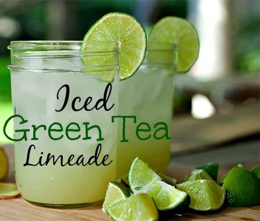 Iced Green Tea Limeade recipe using Bigelow Tea #AmericasTea #shop #cbias