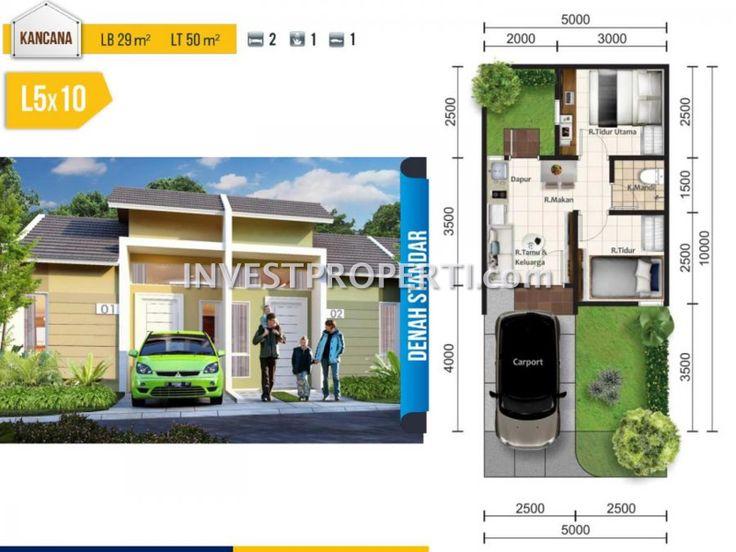 Denah rumah Tipe L5 Pakuan Village