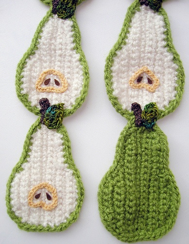Crocheted Pear Scarf