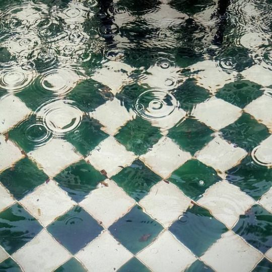 Pinterest: @carmazos. Slytherin aesthetic water devastation sad photography. Beautiful green white tiles