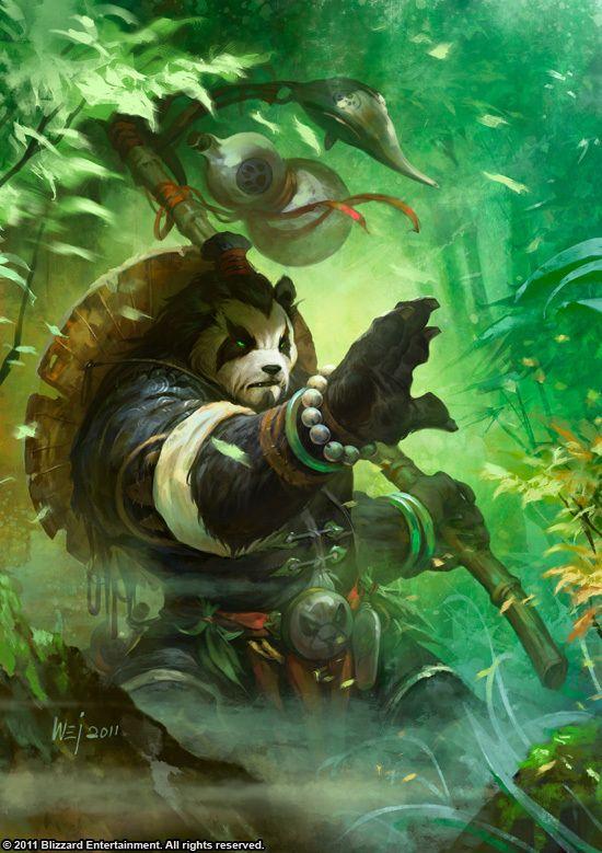 World of Warcraft Pandaran Monk | Artist: Wei Wang