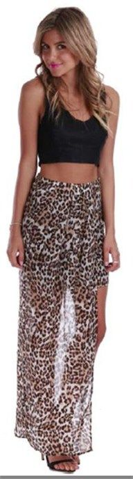 Insight Skirt Leopard by Madison Square