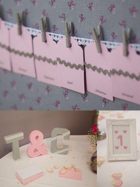 décoration mariage rose et gris - photos Freddy frémont (1)