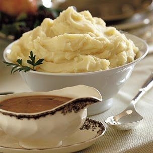 Make-Ahead Mashed Potatoes (another pinner said... These are our favorite. Company loves them. We make them for almost every holiday and can be made the day before).