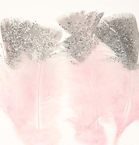 Plumes roses, La fabrique du Canari, DIY, création, plume, rose, pink, glitter