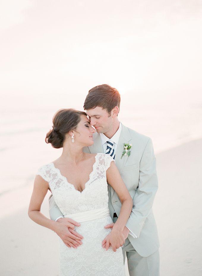 White and Blue Florida Beach Wedding