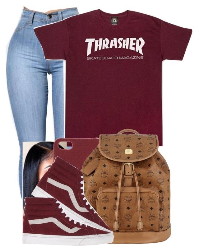 """""""Thrasher"""" by danimack03 ❤ liked on Polyvore featuring Tory Burch, MCM and Vans"""