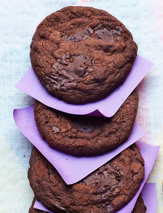 Chocolate fudge cookies - Sainsbury's Magazine