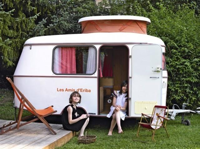 vintage trailer as playhouse..