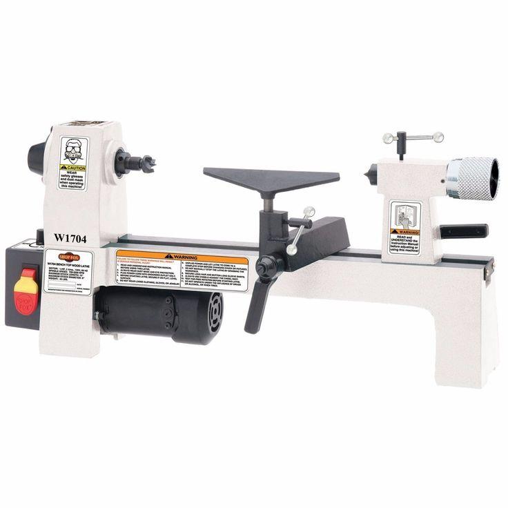 Shop Fox Benchtop Lathe Wood Turning Cutting Tools Variable Speed Machinery | eBay