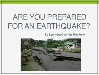 This informative lesson is loaded with important information about earthquakes.  It is a great way to review earthquake safety.  There is even a fun writing activity as well as instructions on making your own seismograph. Pictures included of actual seismographs during earthquakes and other pictures of actual earthquake damage.
