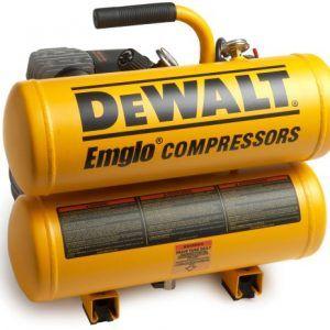 DEWALT D55153 15 Amp 1-Horsepower 4 Gallon Oiled Twin Hot Dog Compressor