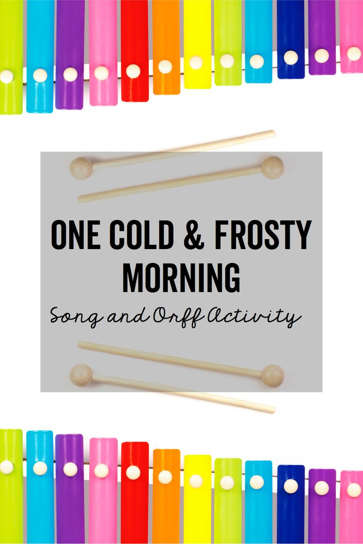 """Everything students need to help them play simple borduns as accompaniment to the song """"One Cold and Frosty Morning""""."""