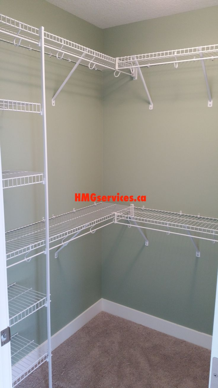 White walk in wire closet solutions