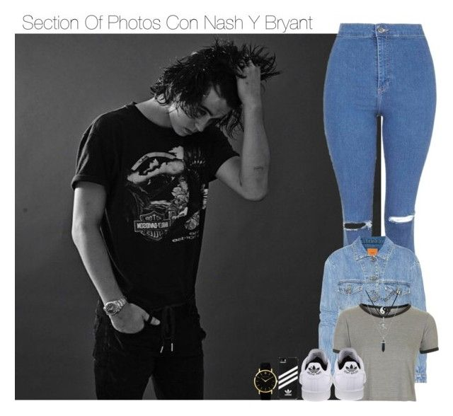 """""""Section Of Photos Con Nash Y Bryant"""" by ixssa ❤ liked on Polyvore featuring adidas, Larsson & Jennings, Topshop and Closed"""