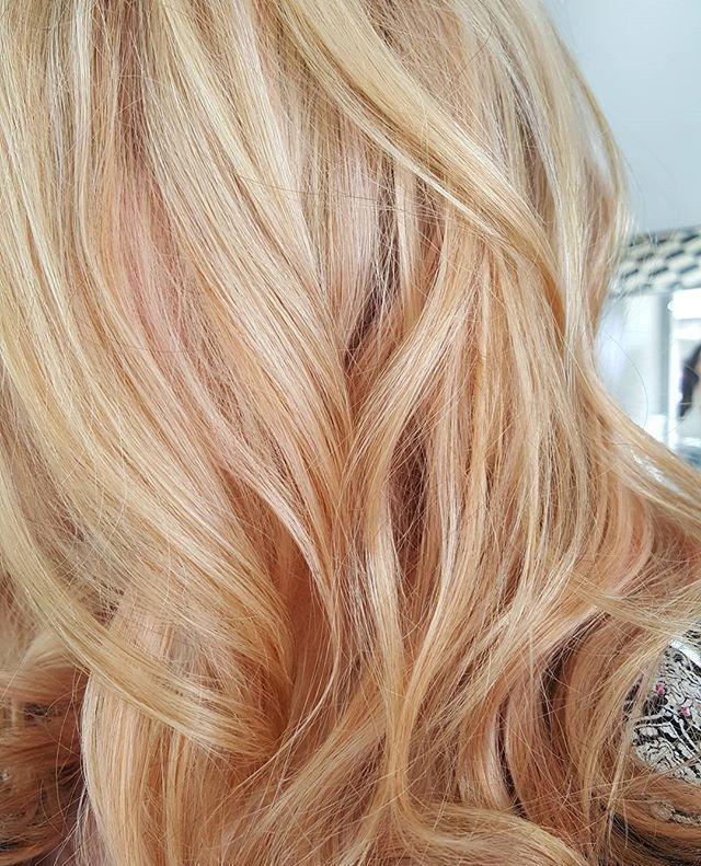 Peach Hair Peach Awkwardpeach Highlights Peachhair In