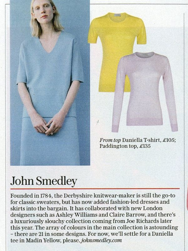 """SS17 colours featured in The Independent's """"Stella Magazine"""""""