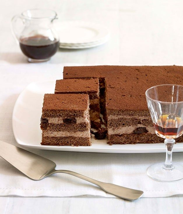 Australian Gourmet Traveller recipe for ginger and cherry cake.
