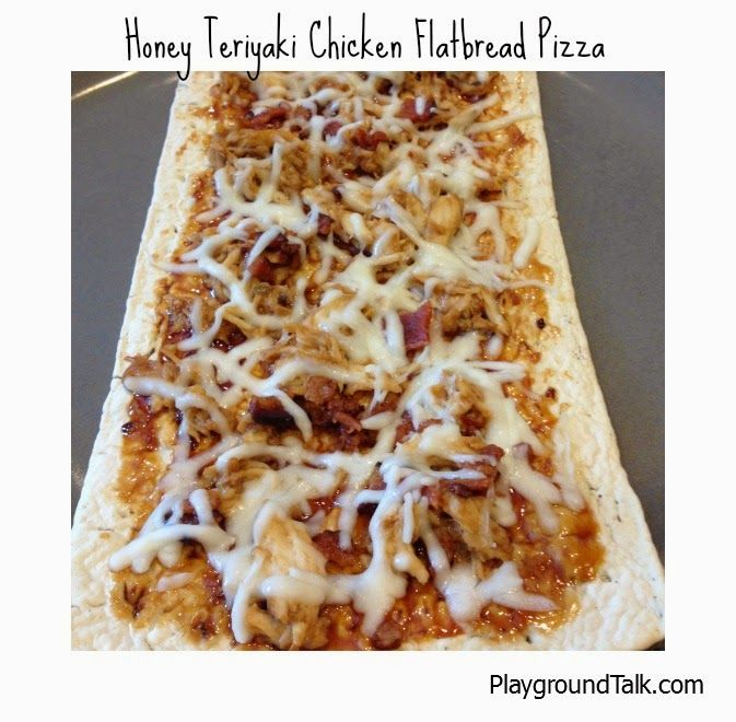 Honey Teriyaki Chicken Flatbread Pizza Recipe