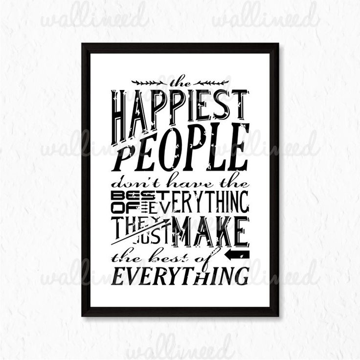 The Happiest People Quote Canvas Print