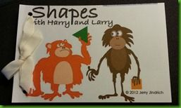 [shapes] Story of Shapes with Harry and Larry book printable