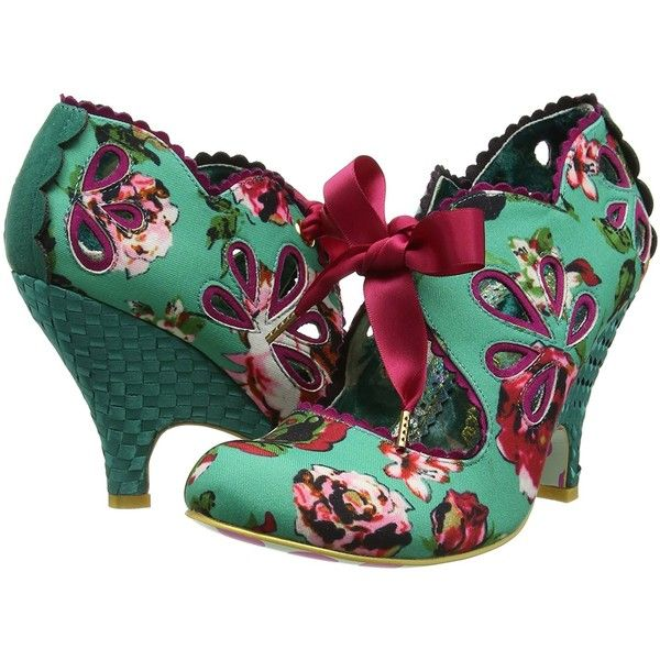 Irregular Choice Women's Ri Oh Heel Shoe 7 US, Turquoise (105 AUD) ❤ liked on Polyvore featuring shoes, turquoise blue shoes, wide width shoes, turquoise shoes, wide fit shoes and irregular choice footwear