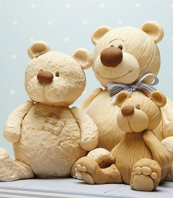 Debbie Brown Baby cakes Bears Tutorial (not in English) Le torte creative di Claudia Prati: Traduzioni Squires Kitchen - Gli orsi di Debbie Brown