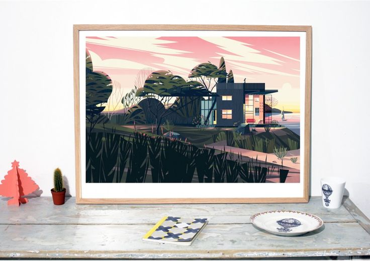 Buy limited Art Poster by Cruschiform, Cabins Art Print, Cabin design poster, Architecture poster, Home deco poster