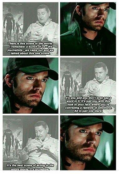 Sebastian Stan's acting in Captain America: The Winter Soldier
