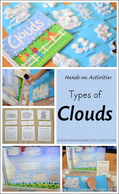 Types of clouds with FREE 3 part cards