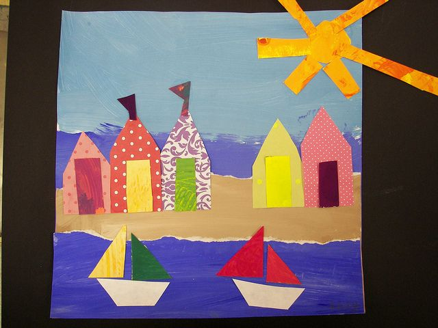 2nd Grade Danny Phillips Beach Huts by Paintbrush Rocket, via Flickr