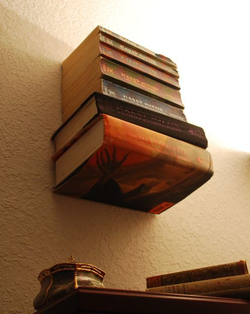 how to make an invisible bookshelf without ruining a book