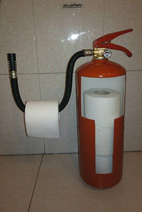 Mira Este Artículo En Mi Tienda De Etsy Https Www Etsy Com Es Listing 729470161 Extintor Portapapel Higie Extintor De Incendios Extintor Mueble Bar De Licor