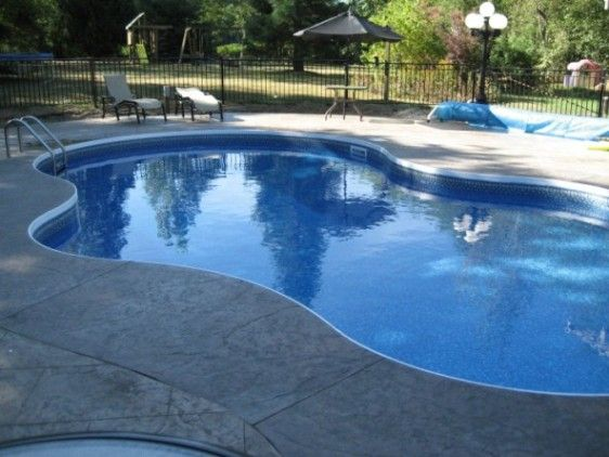 Grey coping pools pool coping options for your new or for In ground pool coping ideas