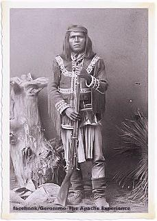 Mangas, (Son of Chief Mangas Coloradas) surrendered a short time after Geronimo in 1886. He was a Mimbreño Apache leader of the Chiricahua, whose homelands were located in the Western Half of Central and Southern New Mexico between Las Cruces and the Arizona border). He was imprisoned in Ft. Pickens, Florida, Mobile Alabama, and Fort Sill, Oklahoma with the other Chiricahua Apache people.