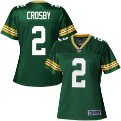 Pro Line Women's Green Bay Packers Mason Crosby Team Color Jersey