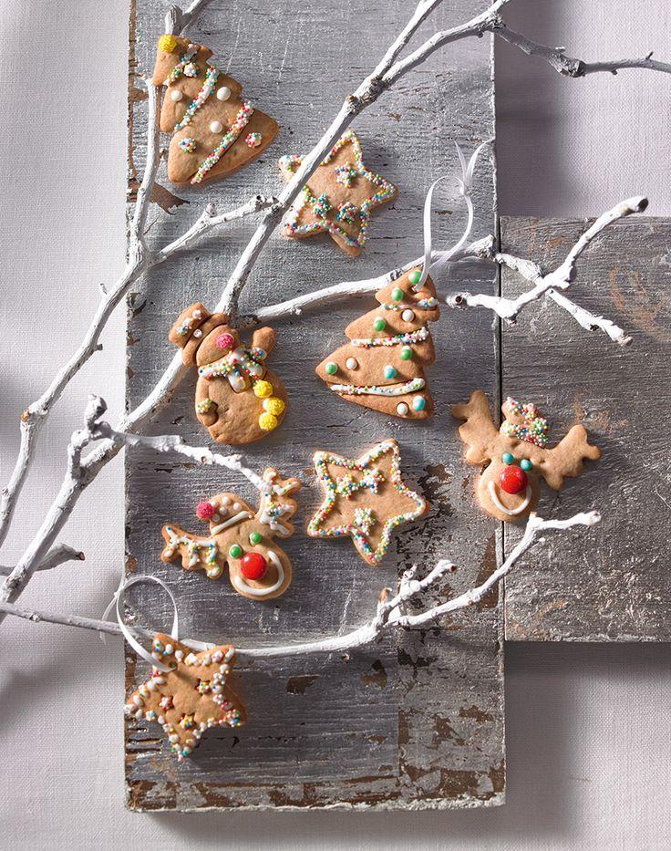 Farbenfrohe Kekse mit Zimt