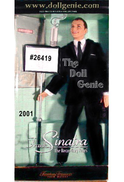 Frank Sinatra wowed audiences for generations with his signature song style and his dashing good looks. Now comes an authentic doll capturing the Chairman of the Board at the height of his recording career. Dressed in a dapper 1950s-style suit and tie, this doll authentically captures Frank Sinatras likeness, thanks to incredible face sculpting and face paint. Doll even comes with Sinatras signature pinky ring sculpted onto his right hand. Microphone not included. $79.95