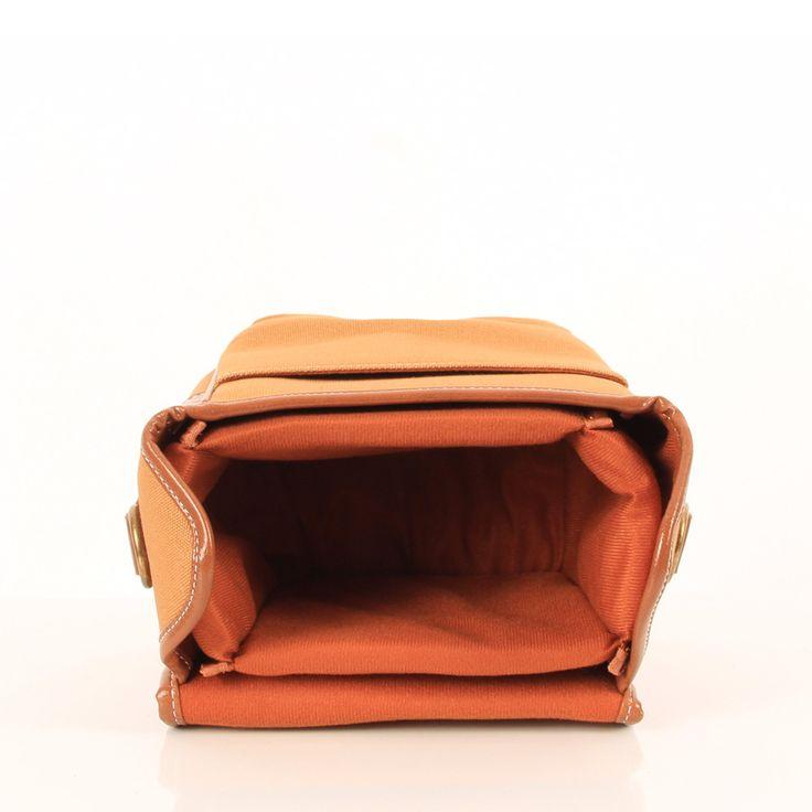 Canvas Camera Bag Tan Small