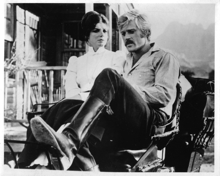 Katherine Ross and Robert Redford as Etta and the Sundance Kid in Butch Cassidy and the Sundance Kid.